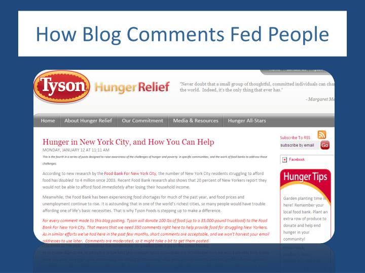 How Blog Comments Fed People