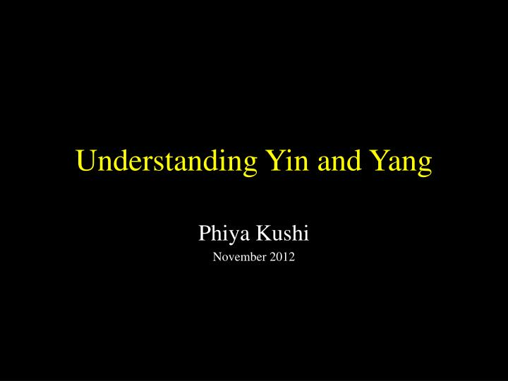 understanding yin and yang