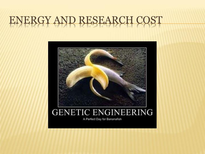 Energy and Research cost