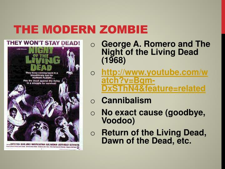 The modern zombie