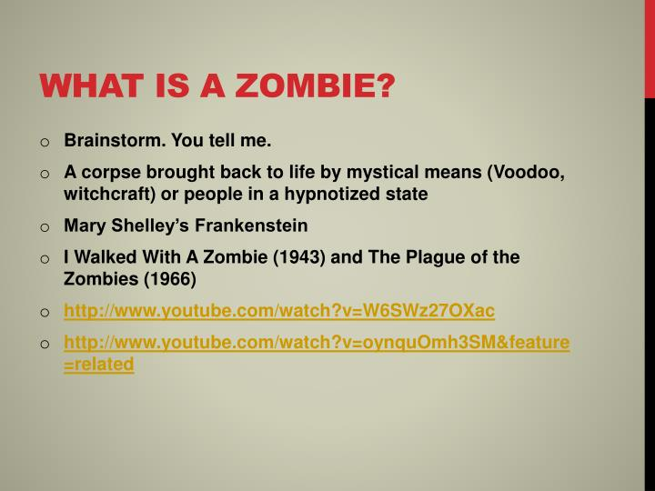 What is a zombie