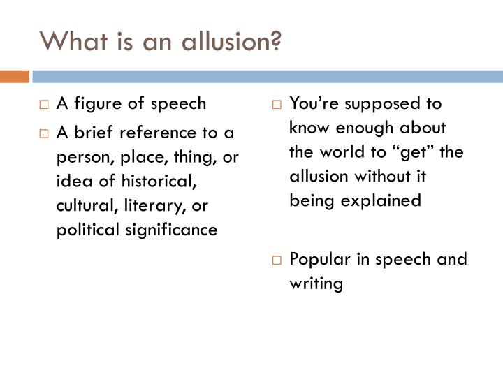 Ppt Allusions English Iii Powerpoint Presentation Id2623609