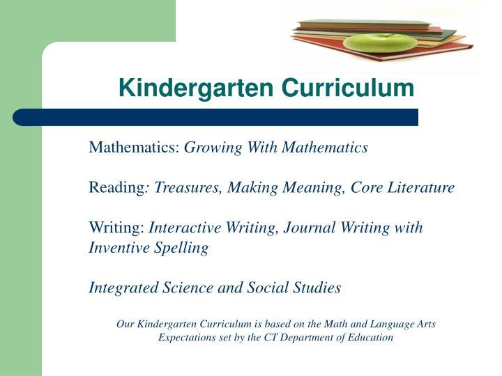 Kindergarten Curriculum
