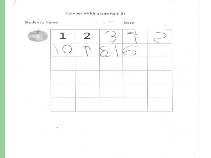 Number Writing in October