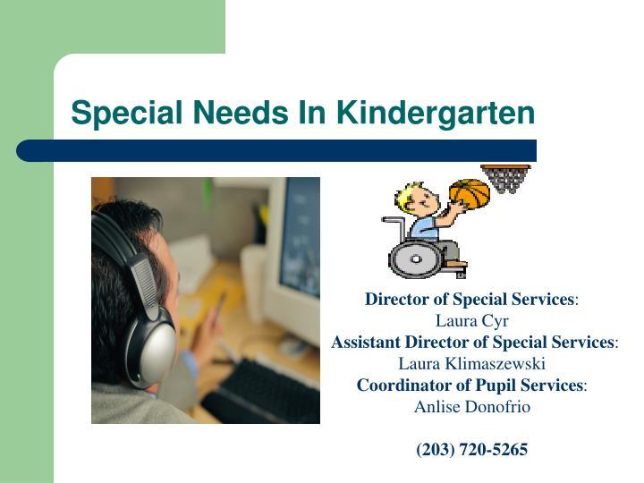 Special Needs In Kindergarten