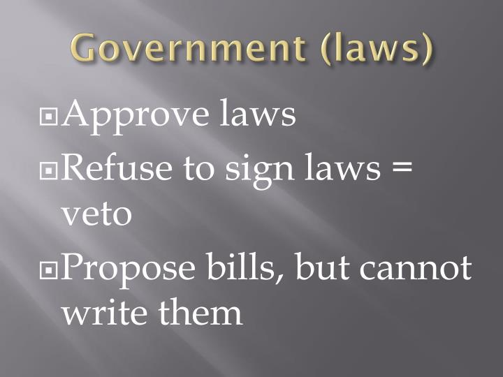 Government (laws)