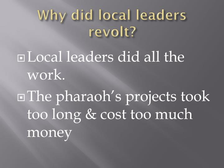 Why did local leaders revolt?