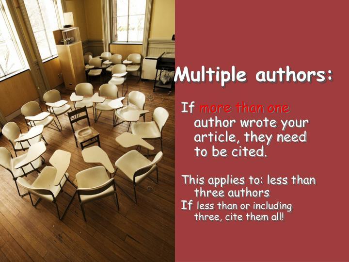 Multiple authors: