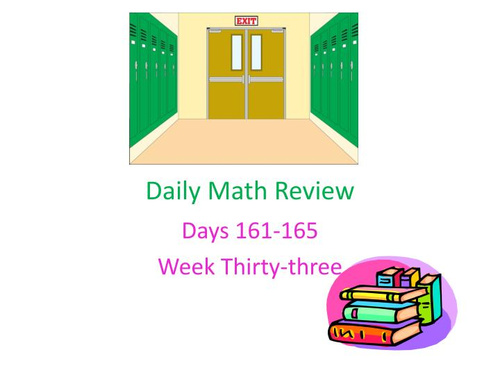 daily math review n.