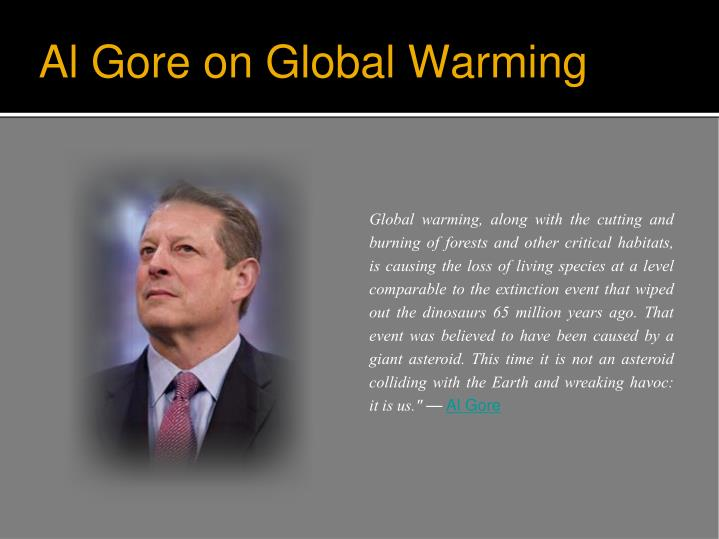 Al Gore on Global Warming