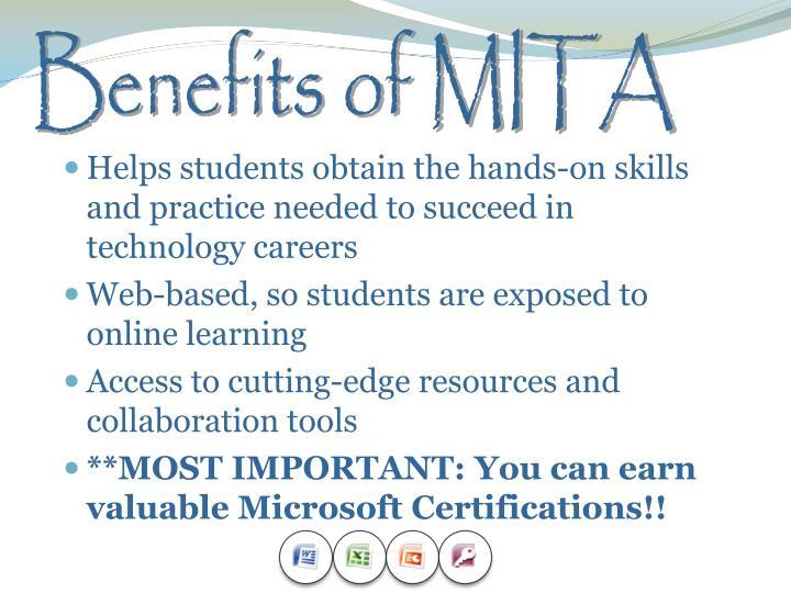 Benefits of MITA