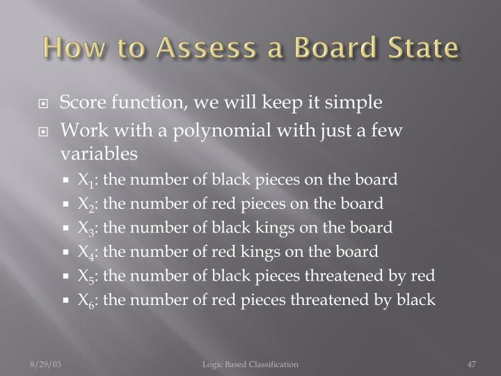 How to Assess a Board State