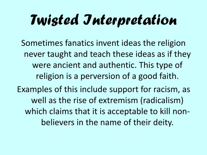 Twisted Interpretation