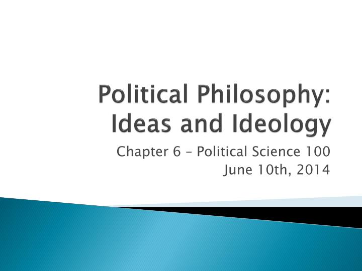 political philosophy ideas and ideology n.