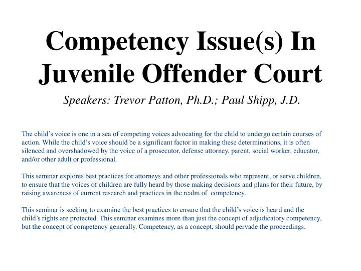 advocacy for juvenile offenders The center for children's advocacy deep end diversion project works inside juvenile facilities (connecticut juvenile training school and waterford county school) to improve interactions between youth and between youth and staff, and reduce re-arrests.