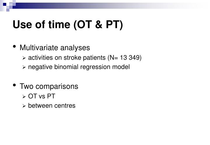 Use of time (OT & PT)