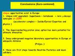 conclusions euro centered