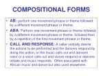 compositional forms