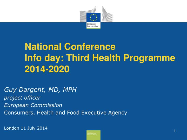 national conference info day third health programme 2014 2020 n.
