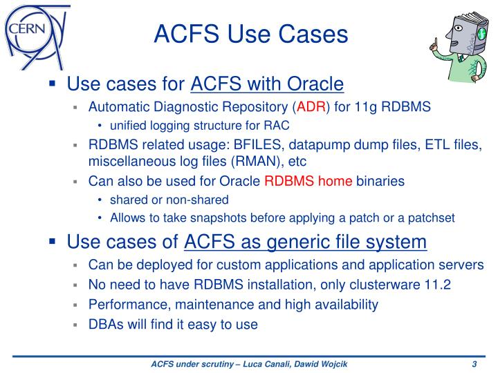 Acfs use cases
