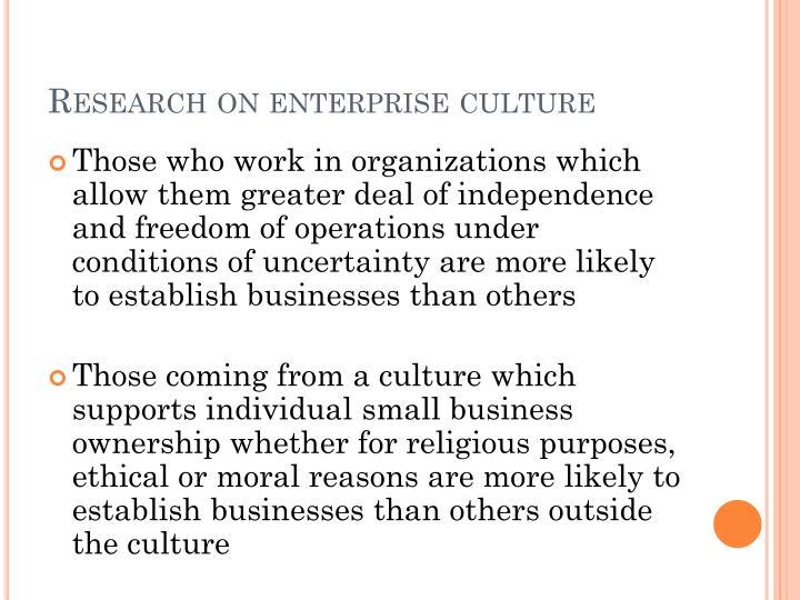 Research on enterprise culture