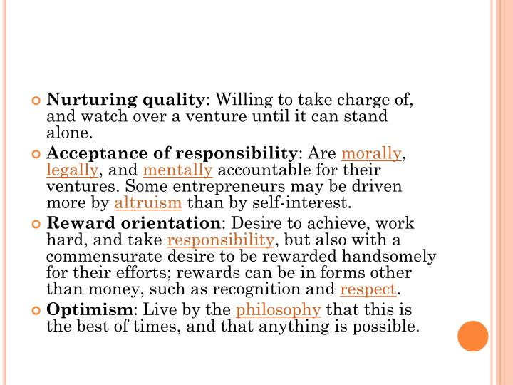 Nurturing quality