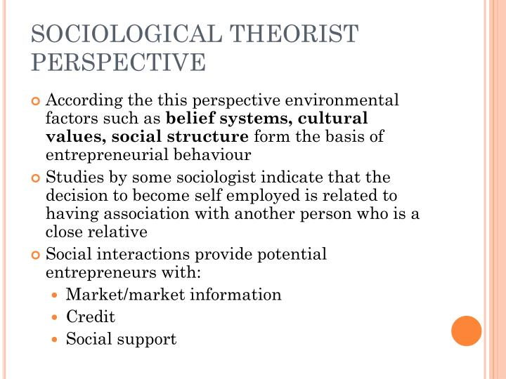 SOCIOLOGICAL THEORIST PERSPECTIVE