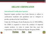 organic certification10