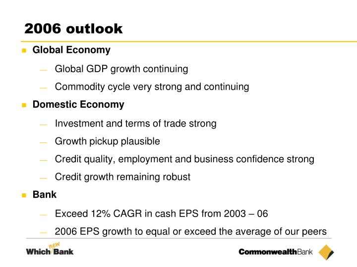 2006 outlook