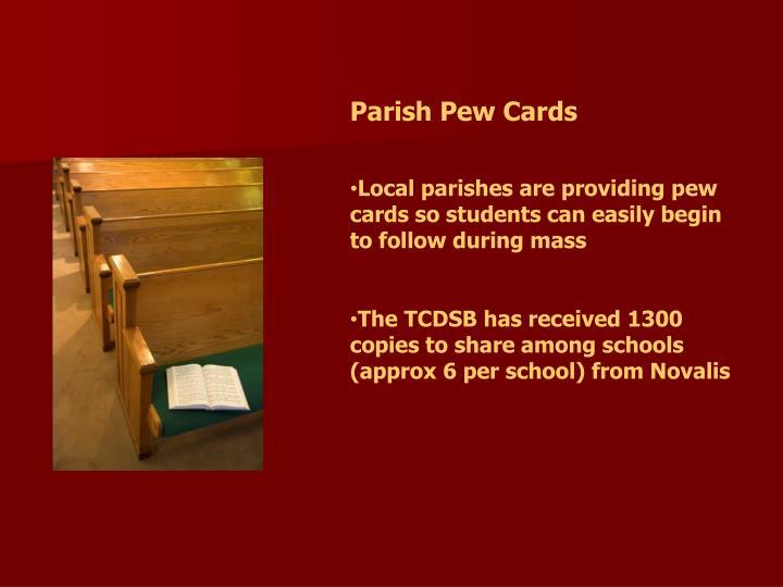Parish Pew Cards