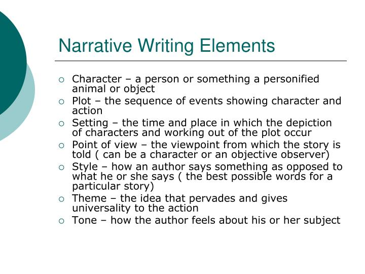 narrative writing meaning
