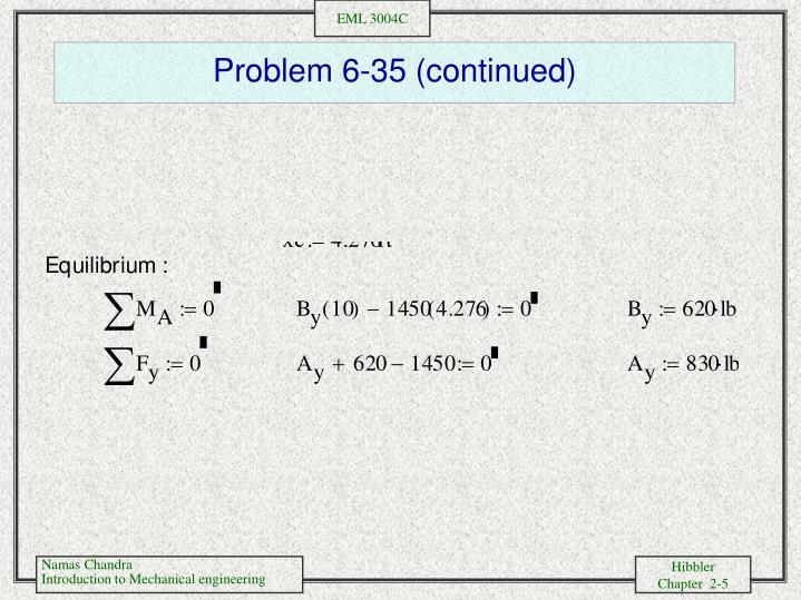 Problem 6-35 (continued)