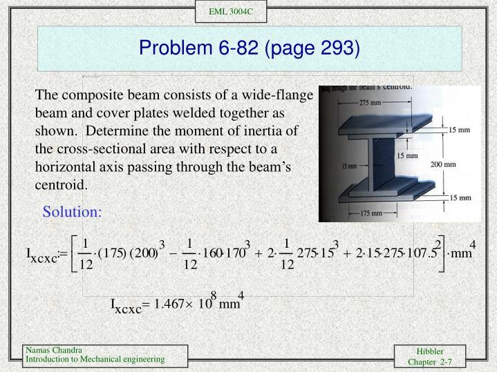 Problem 6-82 (page 293)