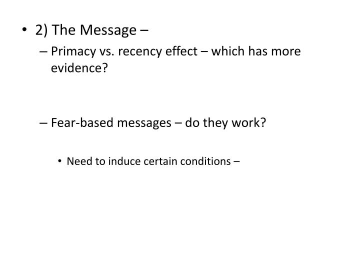 2) The Message –