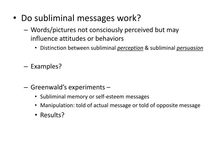 Do subliminal messages work?