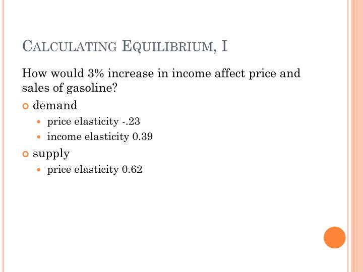 Calculating Equilibrium, I
