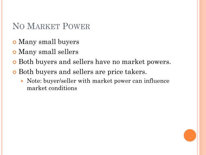 No Market Power
