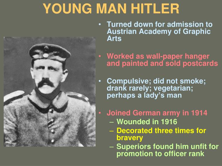 YOUNG MAN HITLER