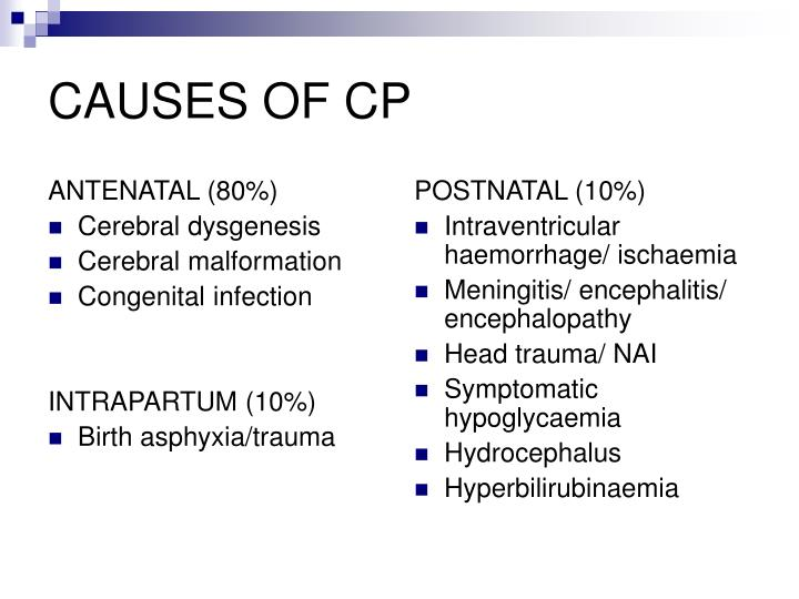 Causes of cp