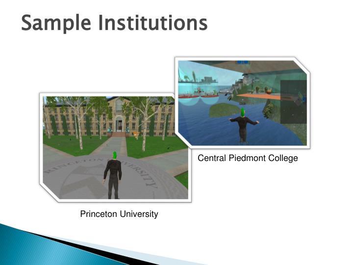 Sample Institutions