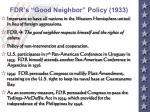 fdr s good neighbor policy 1933