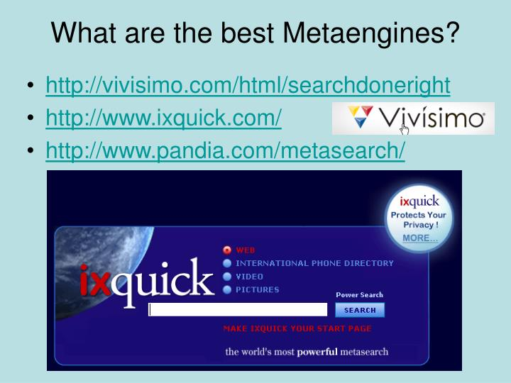 What are the best Metaengines?