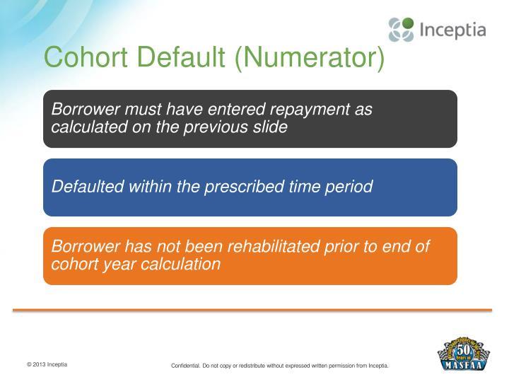 Cohort Default (Numerator)