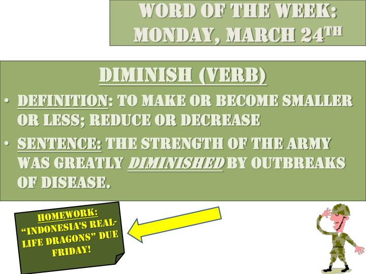 Word of the week monday march 24 th