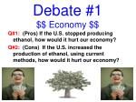 debate 1 economy