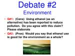 debate 2 environment