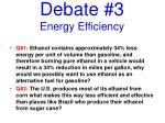 debate 3 energy efficiency