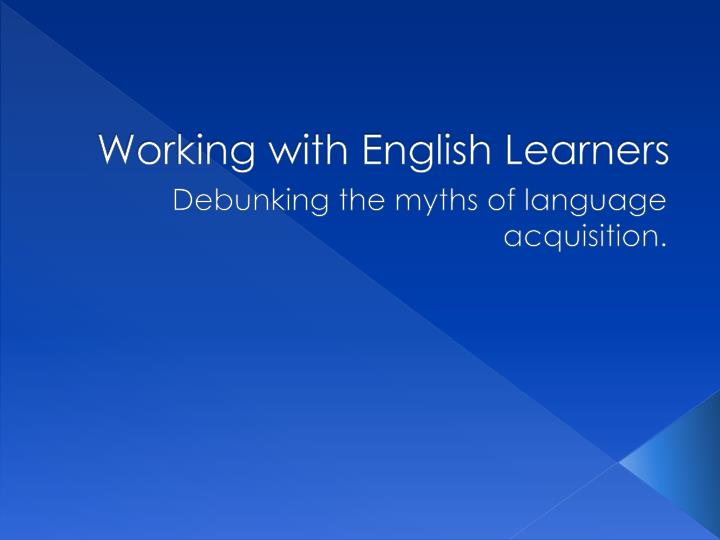 working with english learners n.