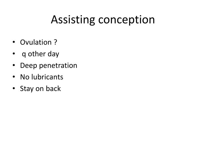 Assisting conception