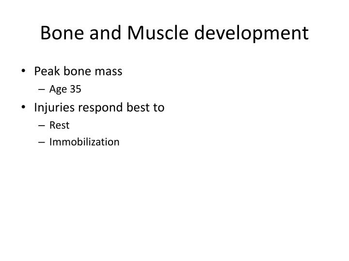 Bone and Muscle development